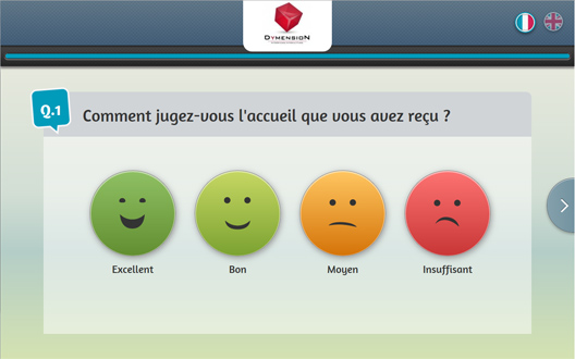 Enquête de satisfaction par smiley
