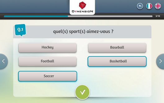 Enquete de satisfaction par QCM textuel