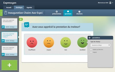Créez facilement les questions dans vos sondages de satisfaction